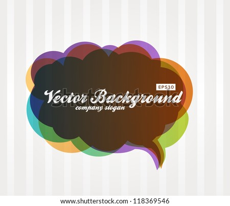 Speech Bubble Background. Dialog Balloon, Vector Design. - stock vector