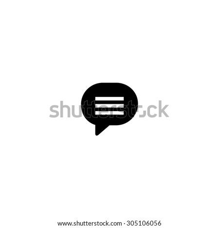 Speech bubble. Black simple vector icon - stock vector