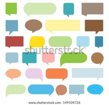 Speech bubble collection - stock vector
