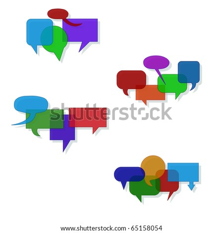 Speech bubble groups (eps10 vector) - stock vector