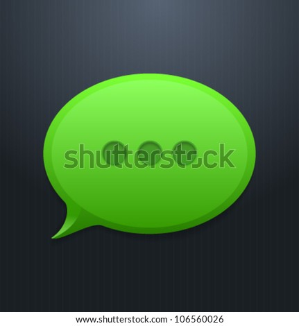 speech bubble html5 - stock vector