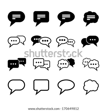 Speech Bubble Icon - stock vector