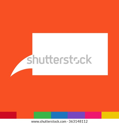 Speech bubble icon Illustration symbol design