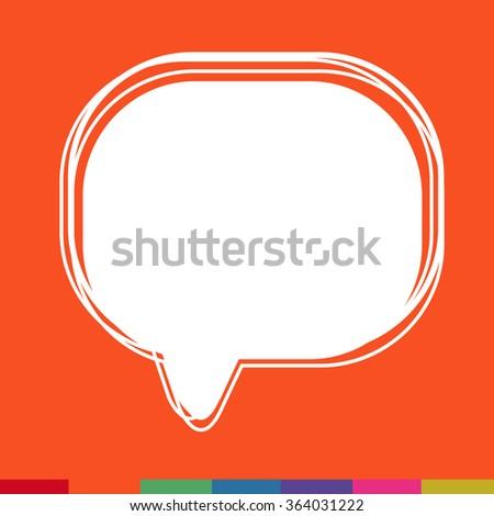 Speech bubble icon Illustration symbol design - stock vector