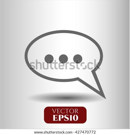 Speech bubble icon, Speech bubble icon vector, Speech bubble icon symbol, Speech bubble flat icon, Speech bubble icon eps, Speech bubble icon jpg, Speech bubble icon app, Speech bubble web icon - stock vector