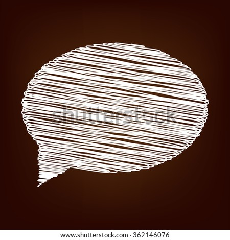 Speech bubble icon. Vector illustration with chalk effect
