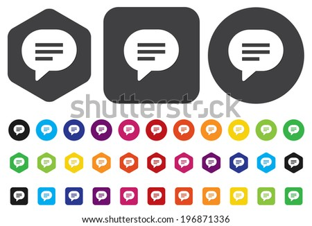 Speech bubble icons - stock vector