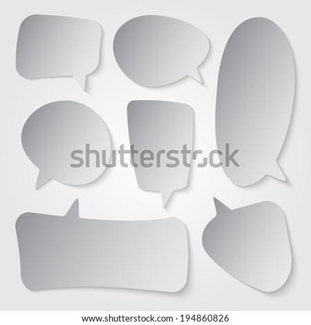 Speech bubble illustration collection set - stock vector