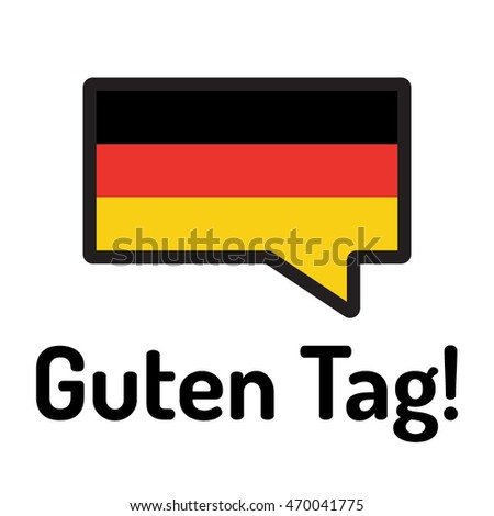 speech bubble color german flag words stock vector. Black Bedroom Furniture Sets. Home Design Ideas