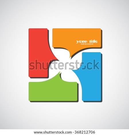 Speech bubble logo design - stock vector