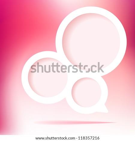 Speech Bubble pink valentine. + EPS8 vector file - stock vector