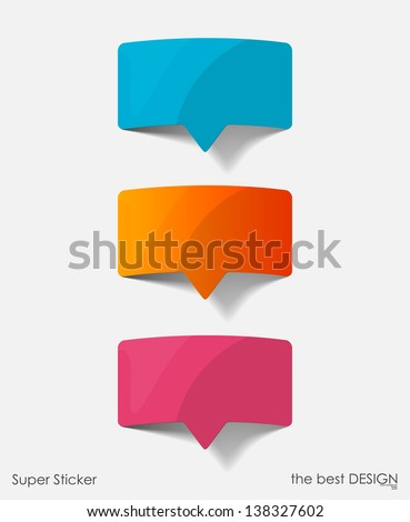 speech bubble, realistic design elements - stock vector