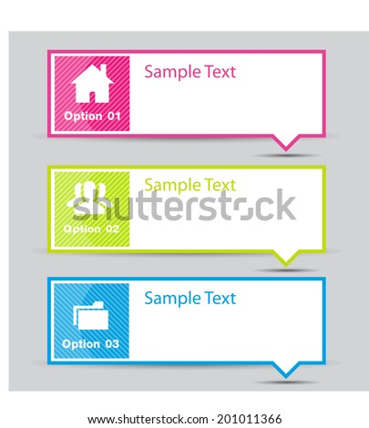 Speech bubble. Text box. Icon. - stock vector