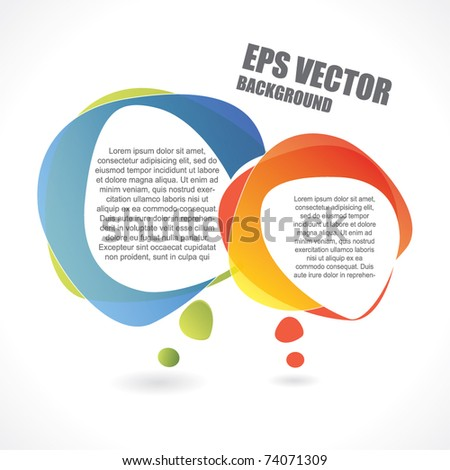 Speech bubble vector background with area for your text - stock vector