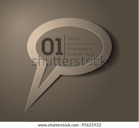 speech bubble vector / simple design / gray - stock vector