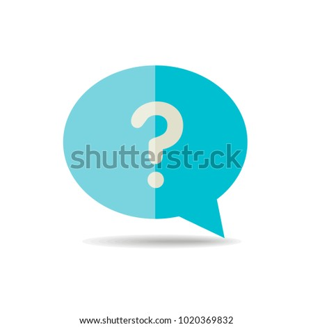 Speech Bubble Question Mark Icon Ecommerce Stock Vector 1020369832