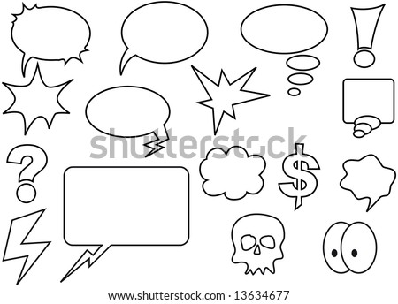 speech bubbles and some other comic elements