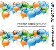 speech bubbles banner-vector - stock photo