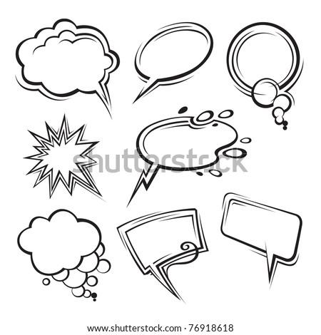 speech bubbles collection - stock vector