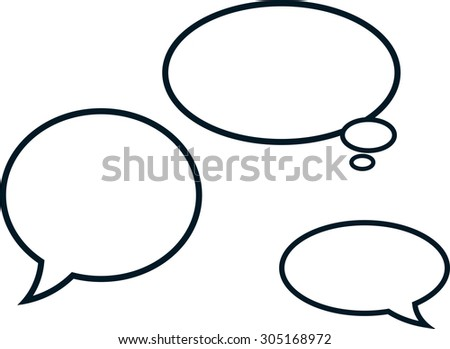 Speech bubbles comic clouds vector illustration isolated - stock vector