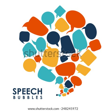 speech bubbles communication design, vector illustration eps10 graphic  - stock vector