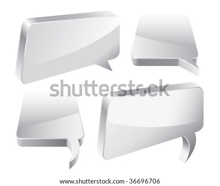 Speech Bubbles 3D (vector). In the gallery also available XXL jpeg version of this image. - stock vector