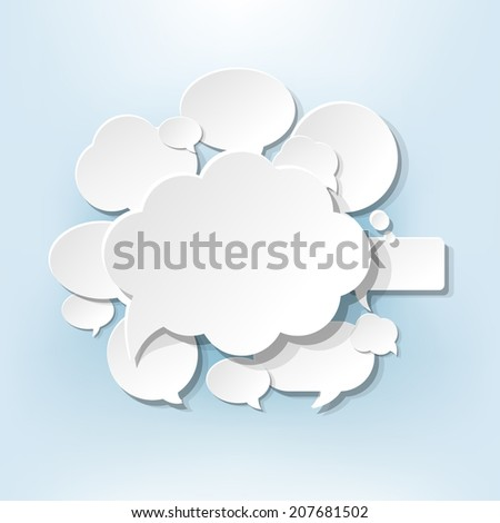 Speech Bubbles Design, With Gradient Mesh, Vector Illustration - stock vector