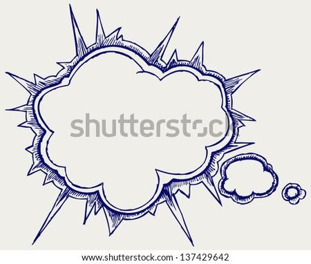Speech bubbles. Doodle style - stock vector