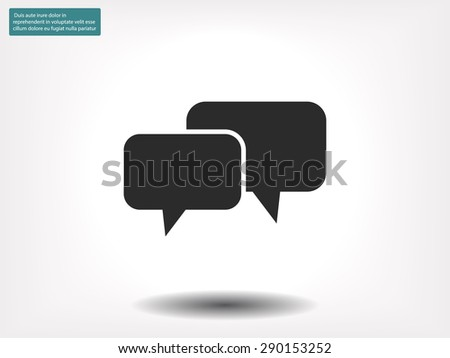 Speech bubbles icon - stock vector