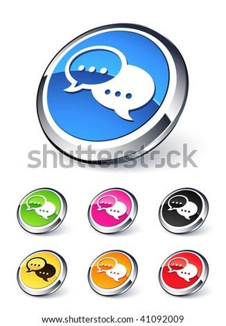 speech bubbles icon - stock vector