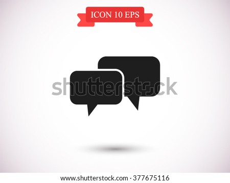 Speech bubbles icon, Speech bubbles icon eps 10, Speech bubbles icon vector, Speech bubbles icon illustration, Speech bubbles icon jpg, Speech bubbles icon picture, Speech bubbles icon flat - stock vector