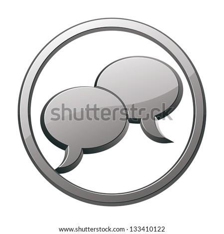 Speech bubbles icon, vector. - stock vector