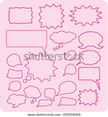 speech bubbles icons set, vector - stock vector
