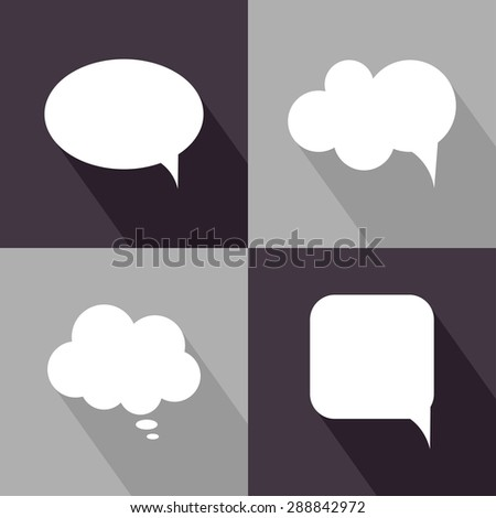 Speech bubbles icons. Vector illustration