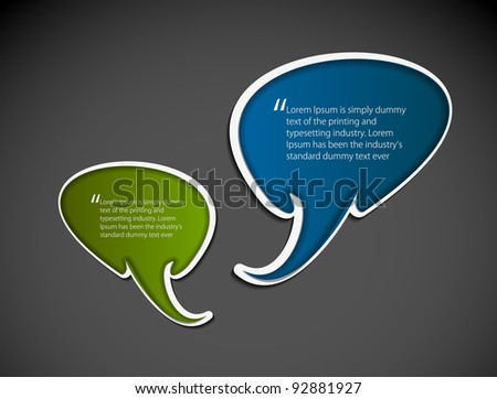 speech bubbles on the a background. Vector illustration. - stock vector