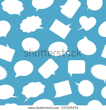 Speech bubbles seamless pattern - stock vector