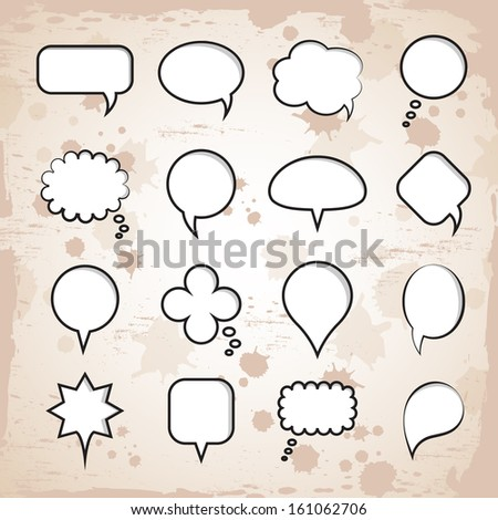 Speech Bubbles Set - Isolated On Background - Vector Illustration, Graphic Design Editable For Your Design - stock vector