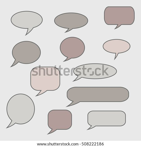 Speech bubbles. Set of vector illustration icons.