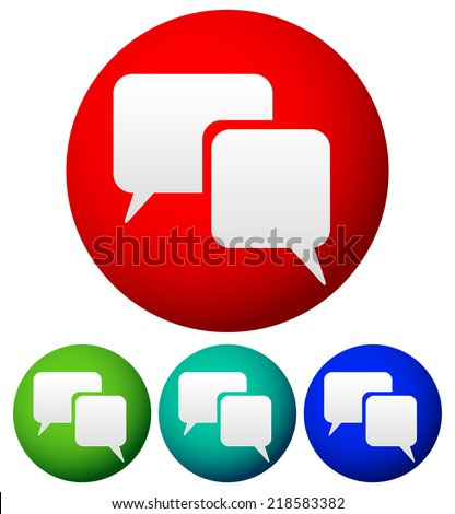 Speech bubbles, talk bubbles. Communication, conversation, dialog, support, feedback, chatting, contact concepts. - stock vector