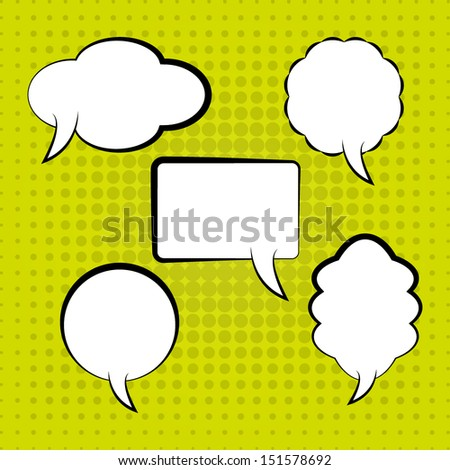 Speech Bubbles Template. High quality vector illustration. Eps10. - stock vector