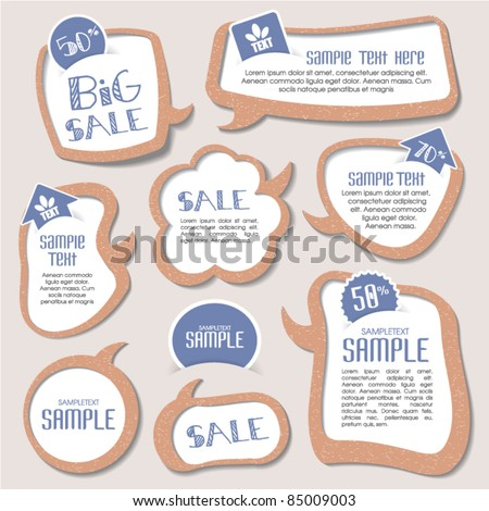 speech bubbles templates for your text - stock vector