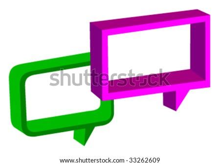 Speech Bubbles - vector - stock vector