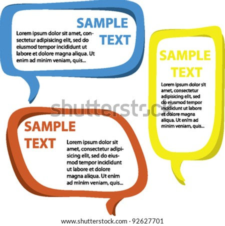 Speech bubbles - vector - stock vector