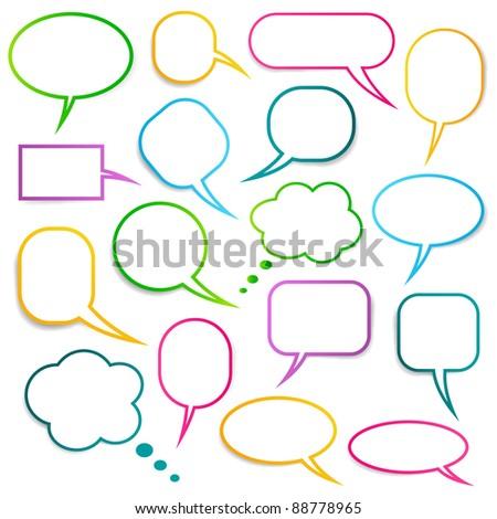 Speech bubbles vector collection, EPS10 - stock vector