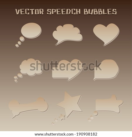 Speech bubbles vector for use in symbolic dialogue and communication