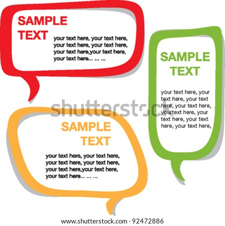 Speech bubbles - vector set EPS10 - stock vector