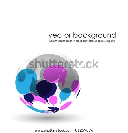speech bubbles vector symbol - stock vector