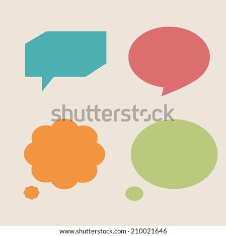 Speech bubbles vintage colors - stock vector