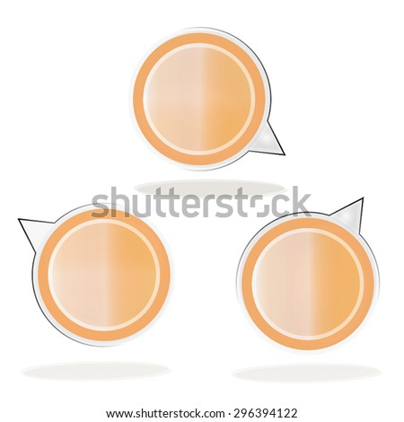 Speech Bubbles Web Template ,Vector illustration. - stock vector