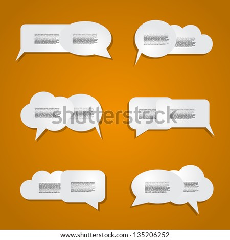 Speech bubbles with orange background